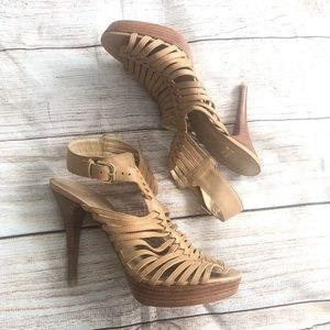 Stuart Weitzman straps heels size 9.5 brown